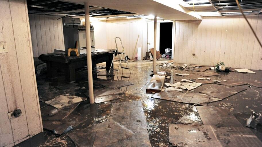 A broken water main caused a woman's home in Northern Virginia to flood. (Photo courtesy of FEMA)