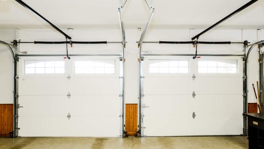 interior side by side white garage doors (Photo by Summer Galyan)