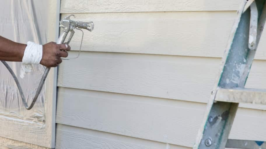 painting a home's exterior
