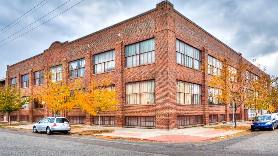 Brick condominium