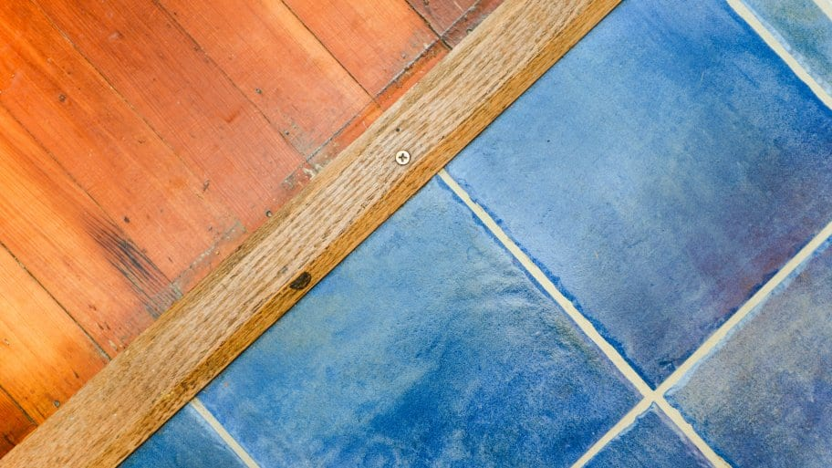 blue tile floor