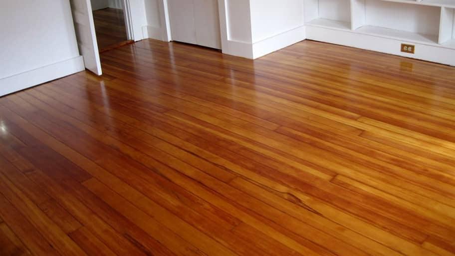 hardwood flooring in a room