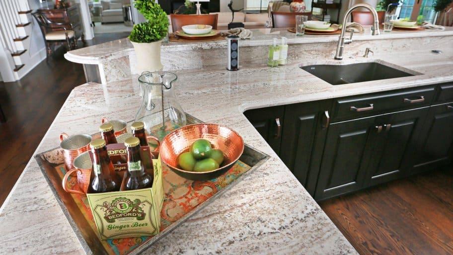 multi-level granite countertop