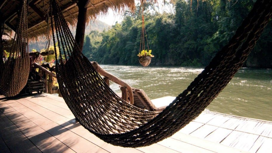 A hammock by the river