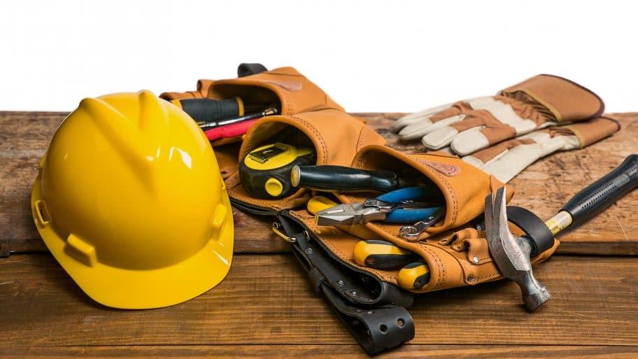 a handyman's toolbelt