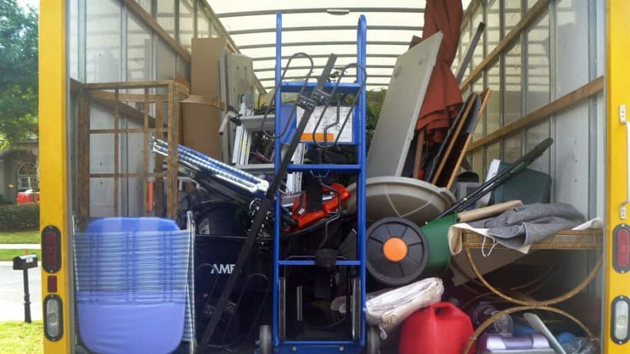 moving truck, full of boxes