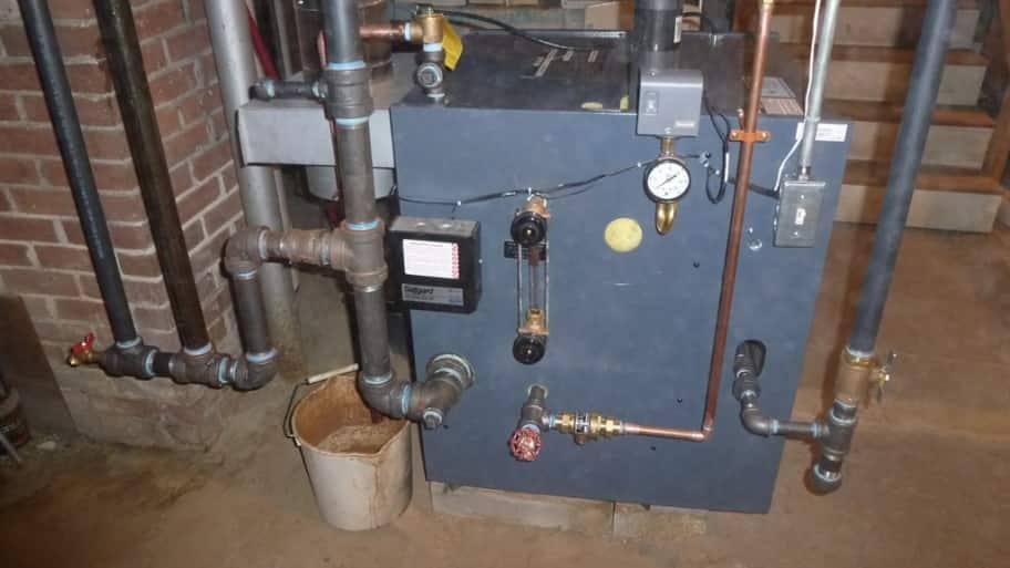 residential boiler heating system