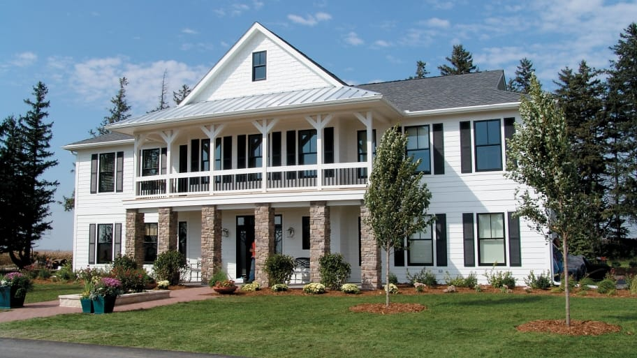 house with white siding