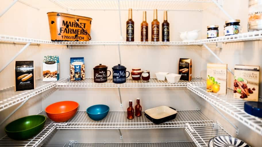 organizing a kitchen pantry