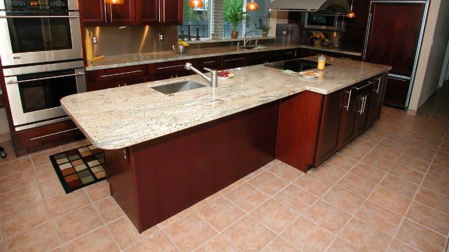 Ceramic tile kitchen floor