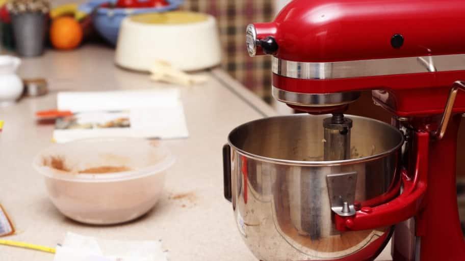 Kitchen Aid mixer on counter