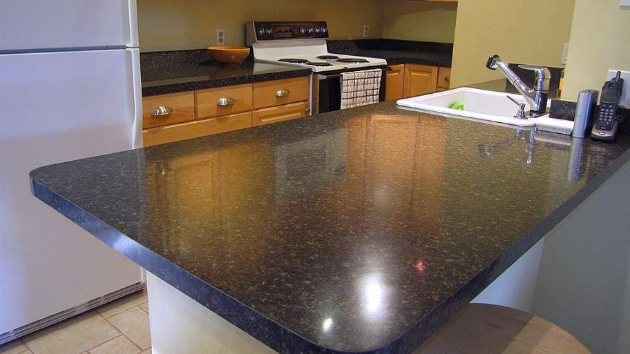laminate countertop in kitchen