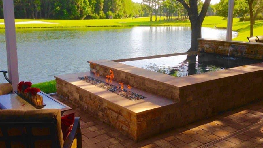a lanai patio in Florida