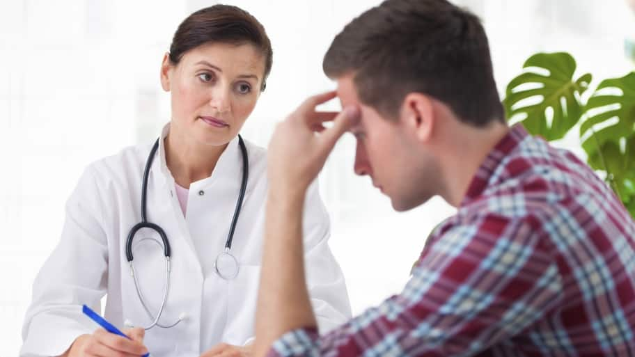 doctor with concerned patient