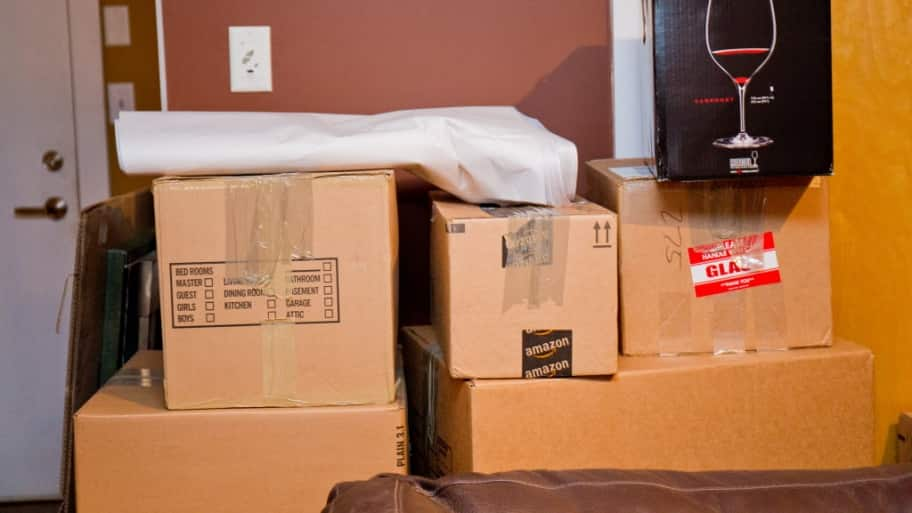 Boxes ready for moving