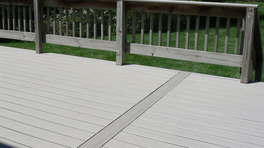 composite deck boards installed over old wood