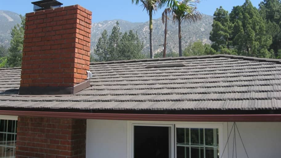new metal roof on home