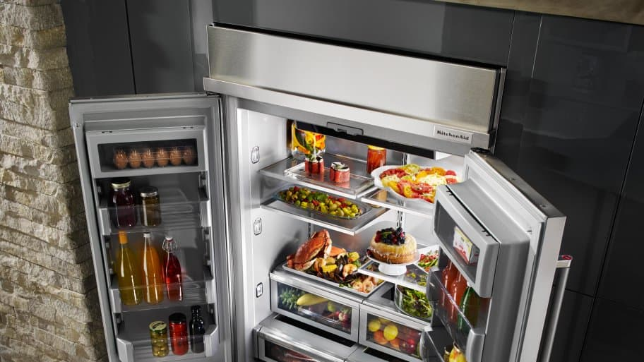 organized Whirlpool refrigerator