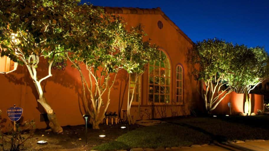 Outdoor lighting for a house