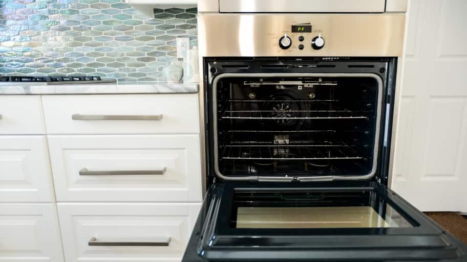 oven with the door open