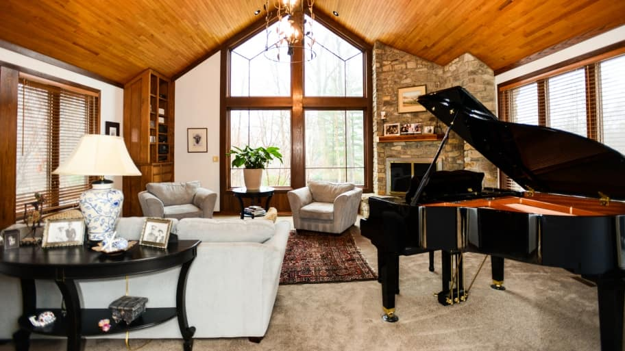 room with piano