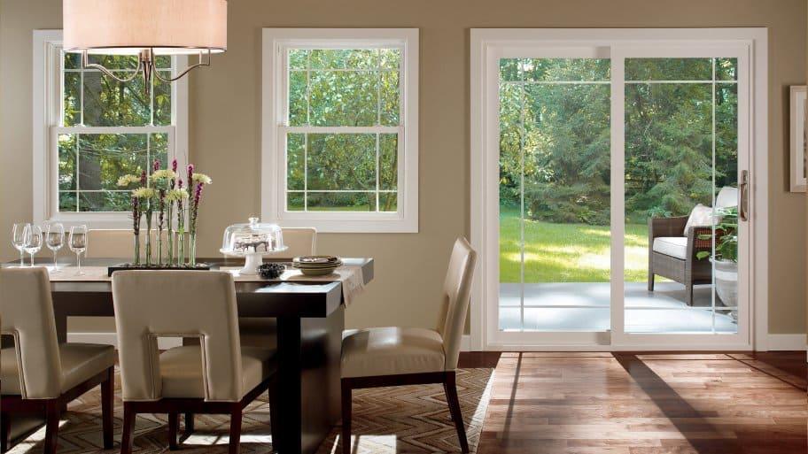 Prarie style windows and door