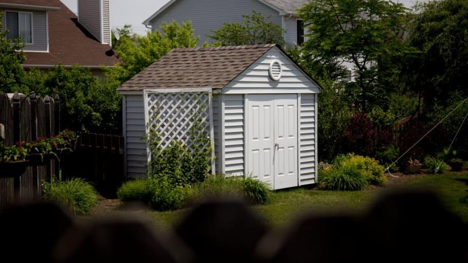garden, storage shed, garage