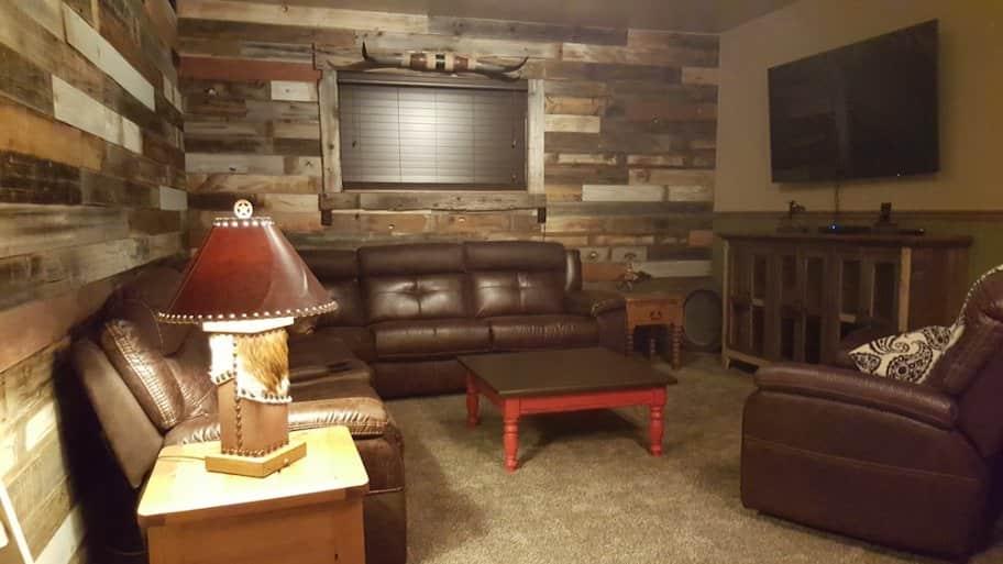 Reclaimed wood on walls