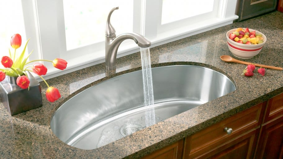 sink with pulldown faucet