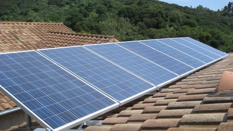 rooftop photovoltaic solar panels