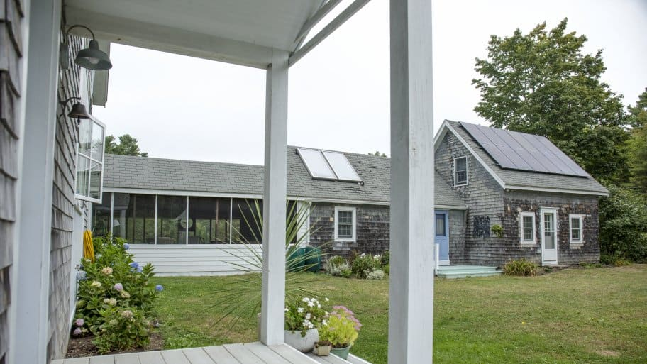 solar panel system on home (Photo by Tanner Halbig)