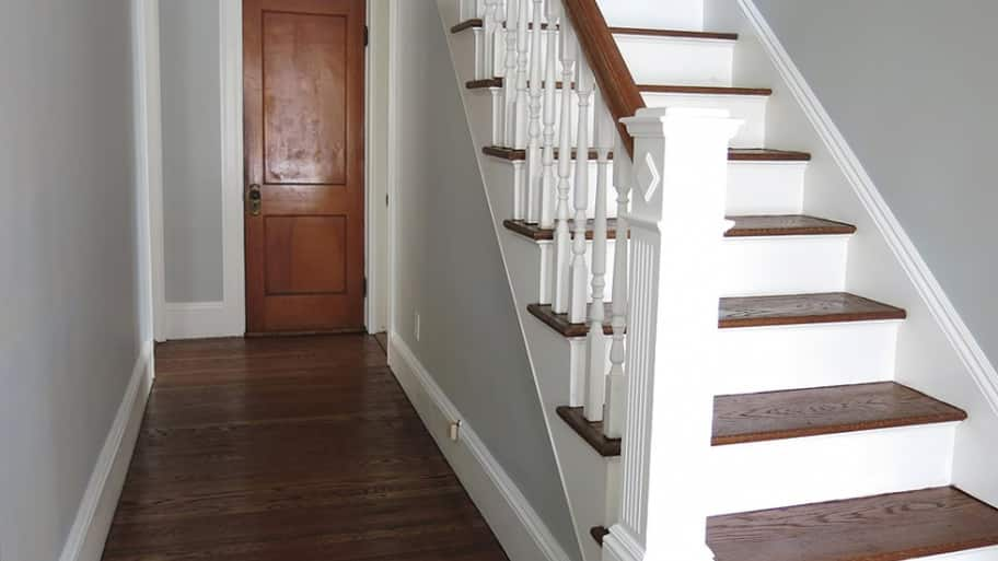 To reduce the risk of falling, inspect stairs inside and outside the house for loose or uneven steps, and see that stairways, including landings at the top and bottom of the stairs, are well lit. (Photo courtesy of Angie's List member Kathleen B. of Boston)