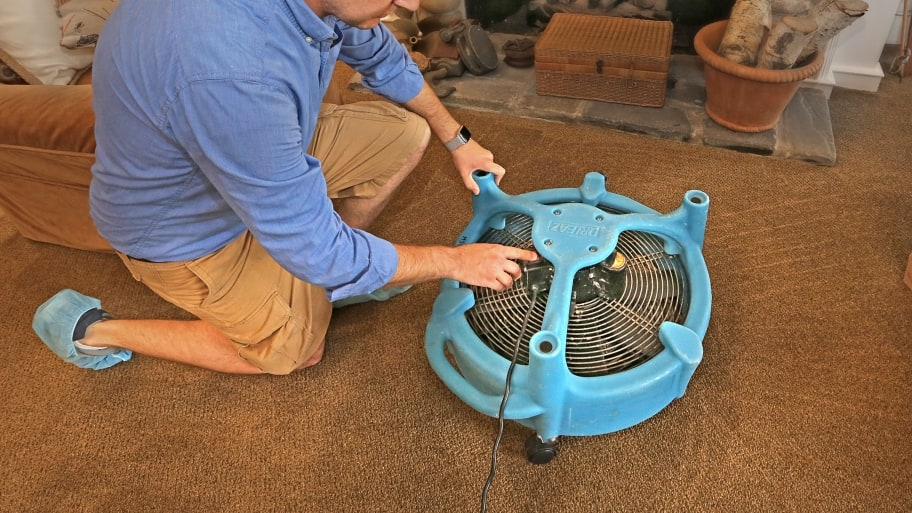 carpet dryer on carpet
