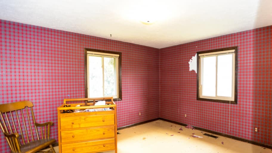 room with wallpaper