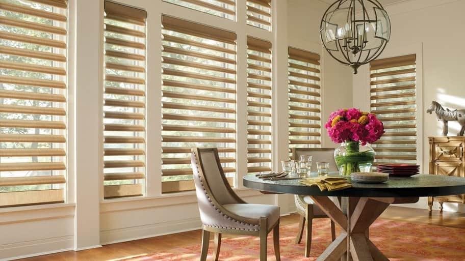 room with Hunter Douglas Alustra® Pirouette® window shadings