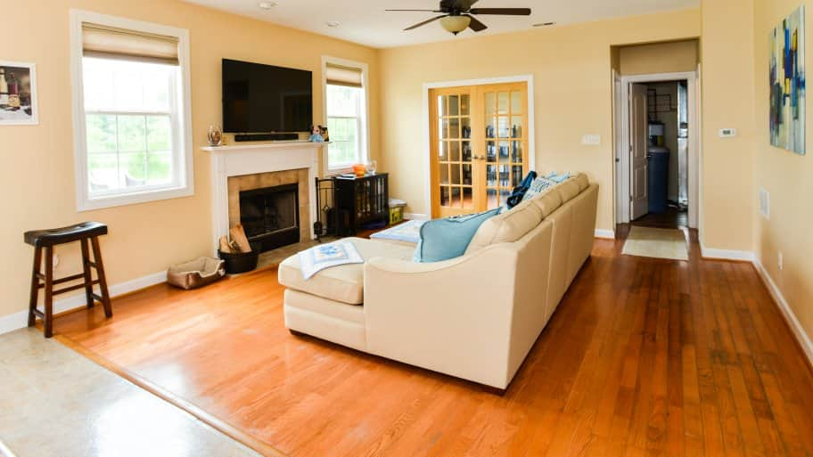 hardwood flooring living room