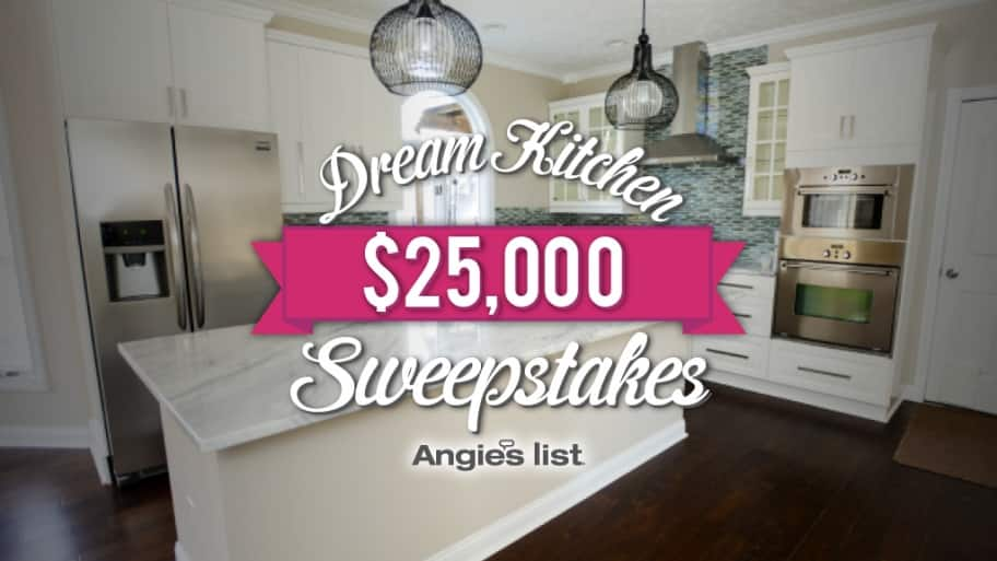Angie's List $25,000 Dream Kitchen Sweepstakes
