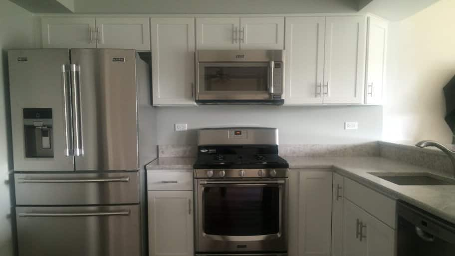 A remodeled kitchen.