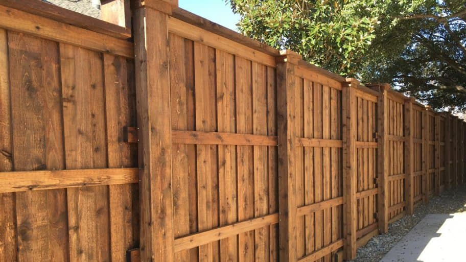 150 feet of cedar fencing (Photo by Photo courtesy of member Stan S.)