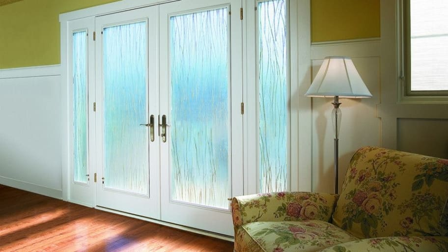 French doors with lever handles