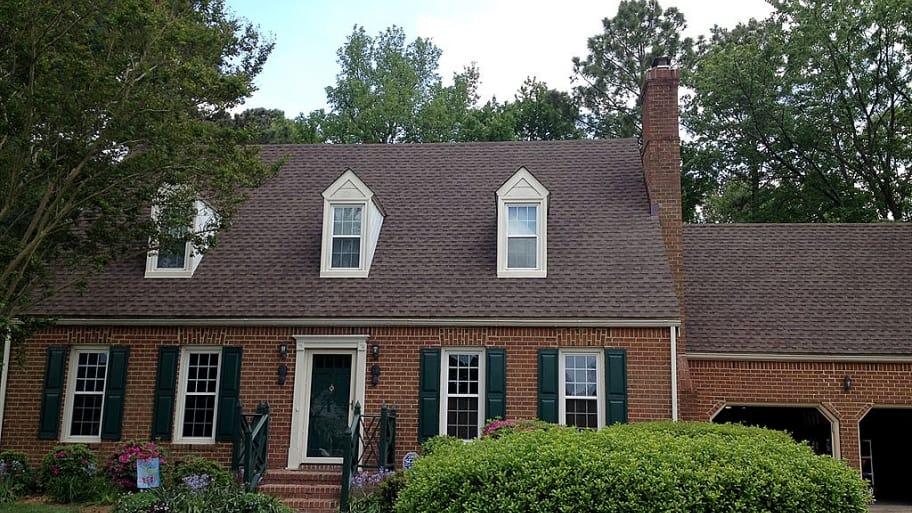 GAF architectural asphalt shingles on home