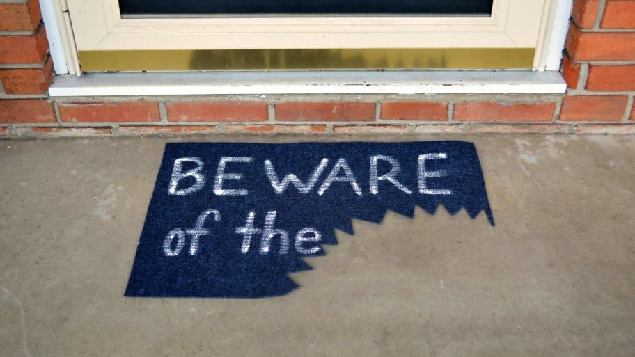 DIY Halloween doormat