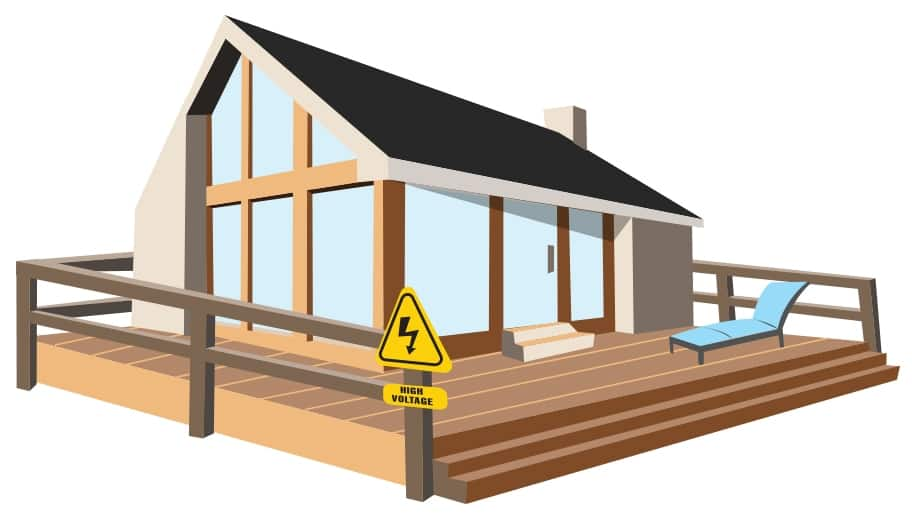 All outdoor outlets must be GFCI-protected, experts say. (Illustration by Bruce Snow)