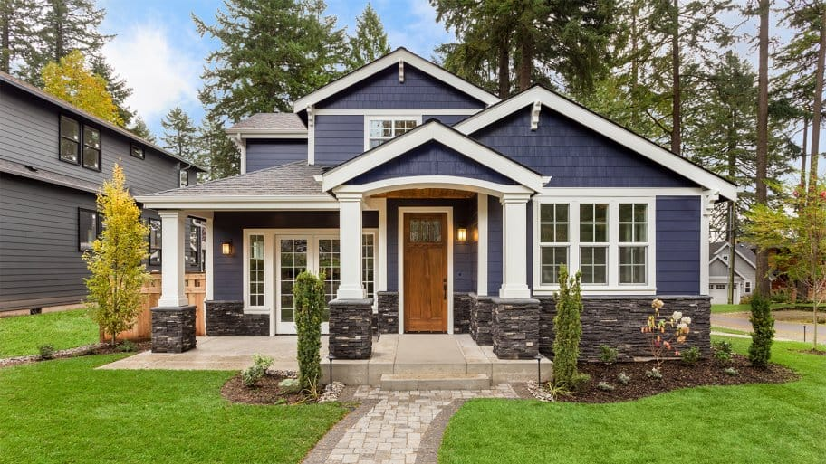 Home exterior of new home