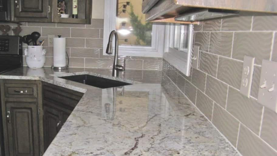 Dean the Granite Guy gave Pennington's kitchen the update she desired by using granite she selected. (Photo courtesy of Ginger Pennington)