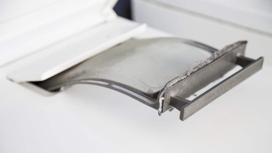 lint trap in dryer