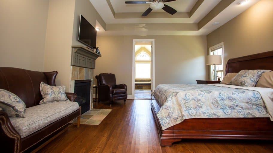 master bedroom with large sitting area