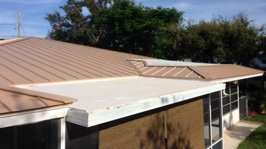 flat roof on home