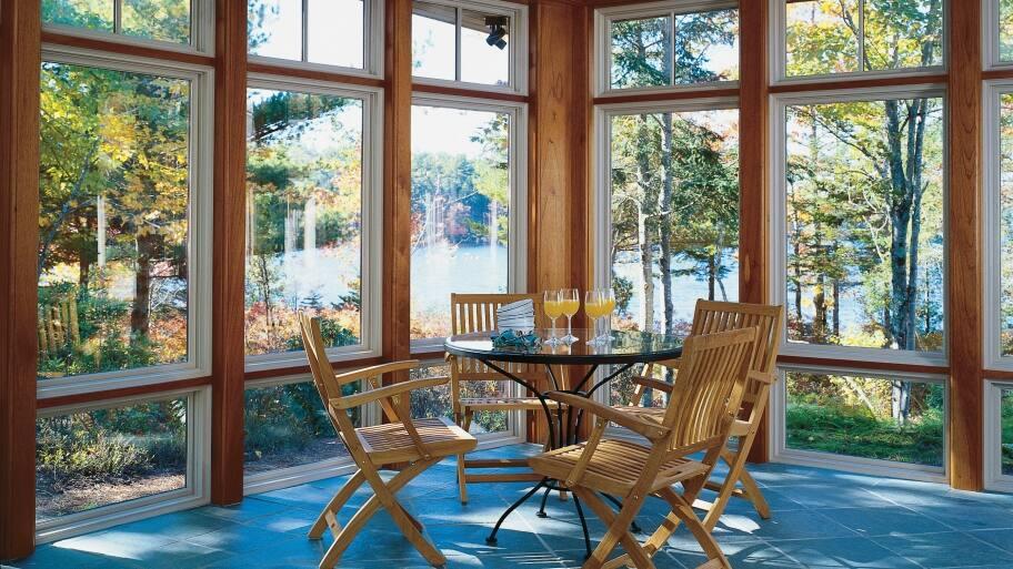 Pella sunroom with windows