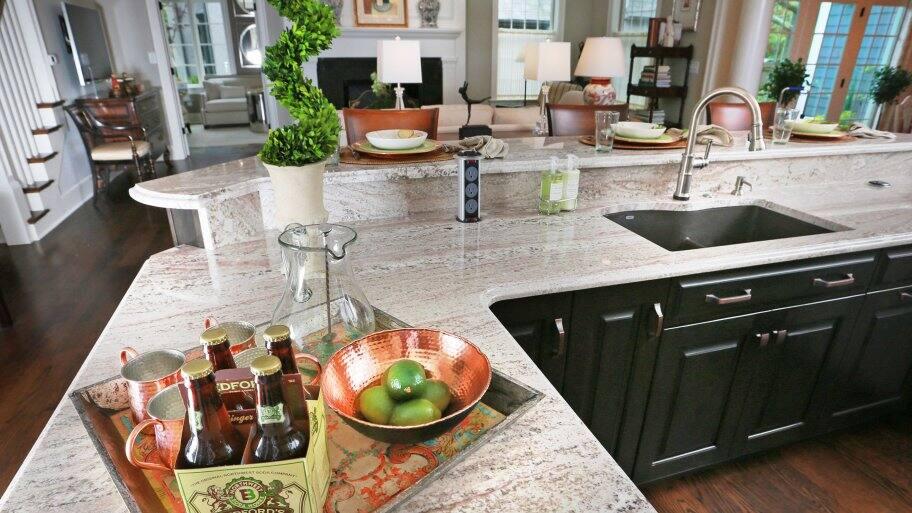white granite countertop